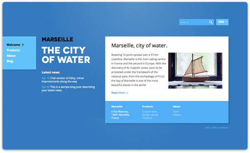 Marseille design theme by Paavel, Edicy